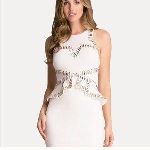 Bebe White Peplum Dress