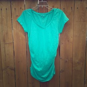 Caslon Tops - ⬇️ Teal Caslon Shirred V-neck T-Shirt