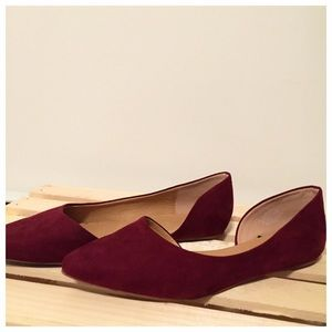 H&M flat suede shoes