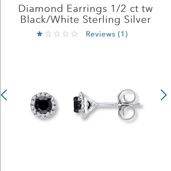 c04777ab1 Kay Jewelers Jewelry | Black Diamond Earring And Necklace Set | Poshmark