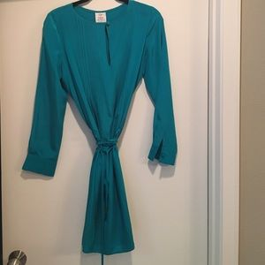 Suzy Chin Dresses & Skirts - Suzy Chin Turquoise Silk Dress