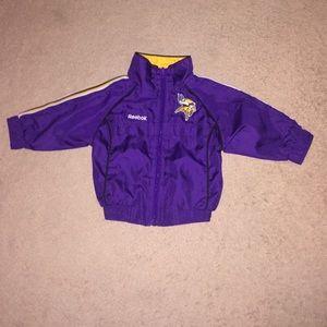 Baby Boy's Reebok Vikings Jacket.  Size 12 Months