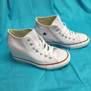 Converse Shoes - All Leather Converse with Wedge