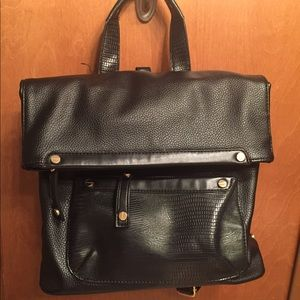 TOPSHOP Faux Leather Backpack Bag