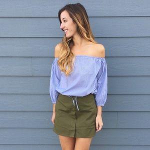 Dresses & Skirts - green mini skirt