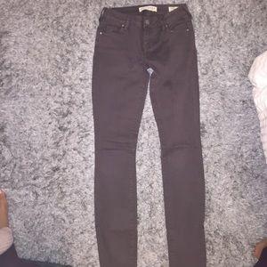 PacSun Denim - Pacsun dark brown/grey low rise skinny jeans