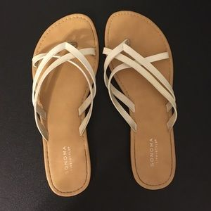 Sonoma Shoes - White strappy sandals!