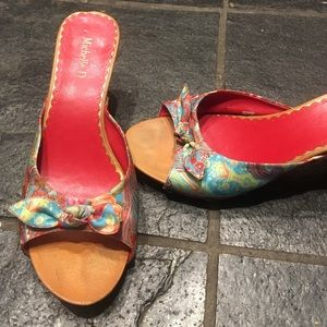 Shoes - Vintage paisley heels