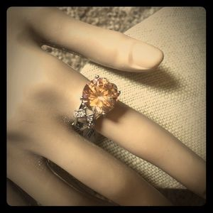 Jewelry - NEW Champagne Morganite Silver Ring