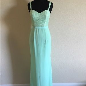 Dresses & Skirts - Brand new A line lace dress in light green color