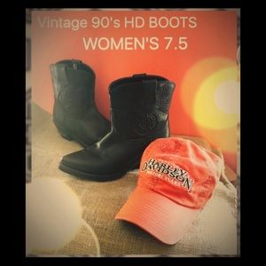 Harley-Davidson Shoes - Vintage Ladies Harley-Davidson Boots 7.5