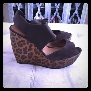 Donald J Pliner leopard wedge