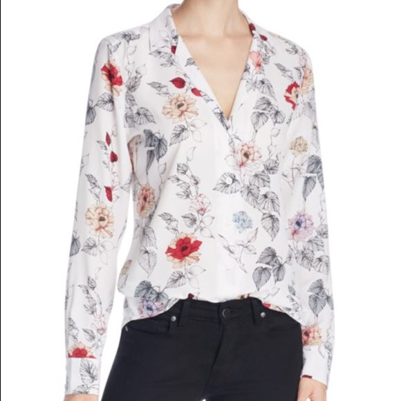 d915a57959b570 NWT Equipment Adalyn silk floral print blouse xs