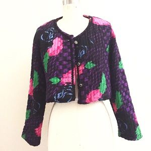Vintage Jackets & Blazers - ON SALE!!!Floral chic classic and crop jacket!