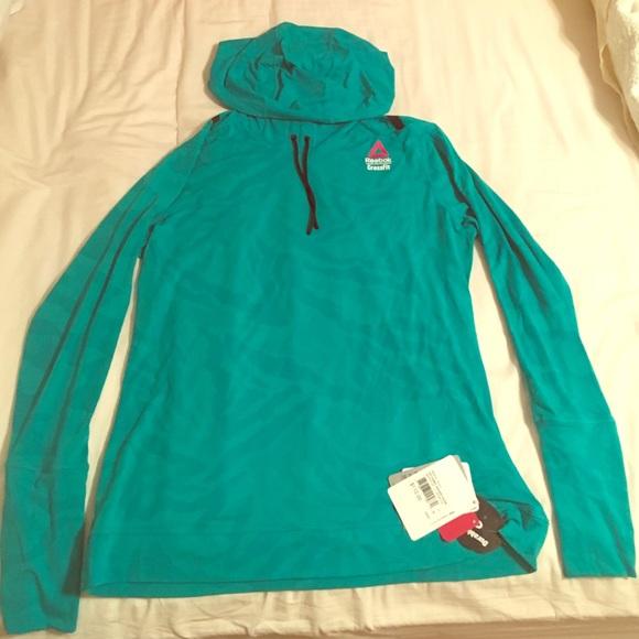 reebok crossfit hoodie mens green