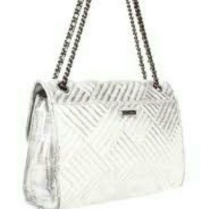 Rebecca Minkoff silver metallic handbag