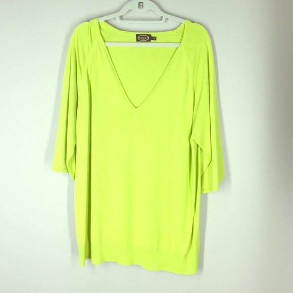 36e2554284f928 Scoop Sweaters - SCOOP Chartreuse silk   cashmere sweater tunic