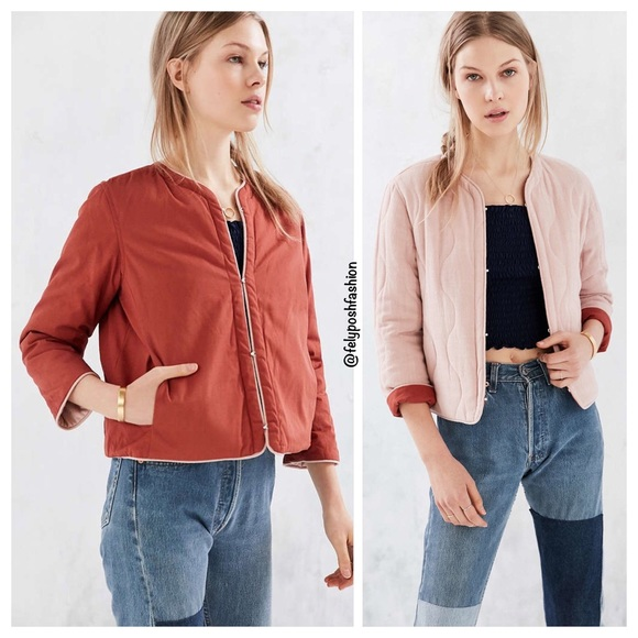 74404c421bdf Urban Outfitters Jackets & Coats | Wave Quilted Reversible Jacket ...