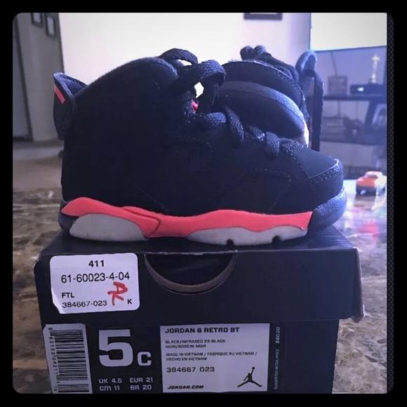 4c9a784c6d6be8 Jordan Other - Baby Jordan Retro 6 Size 5c