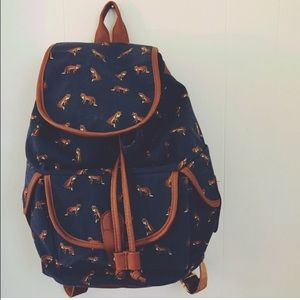 Foxy navy blue backpack