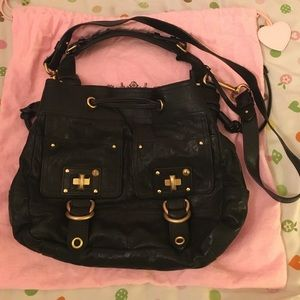 Juicy couture black leather hobo and crossbody bag
