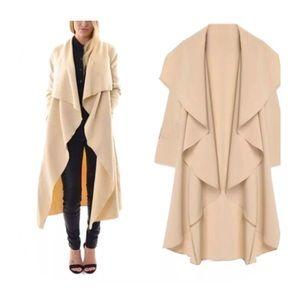 Jackets & Blazers - wave front long coat