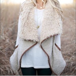 Faux Fur Shearling Vest