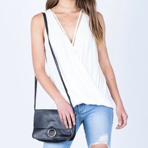 Tops - Summer Off-White Wrap Tank (S,L)