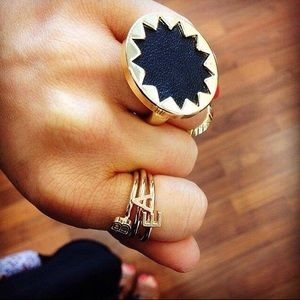 House of Harlow 1960 Jewelry - House of Harlow 1960 14k Gold Sunburst Ring