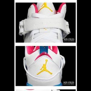 be4bfef8e68407 Jordan Shoes - Nike Air Jordan Flight 45 - White Blue Pink Yellow