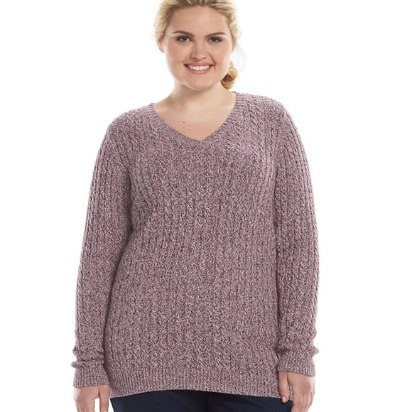 685861c007c Plus Size Soft Cotton Cable Knit Design Sweater