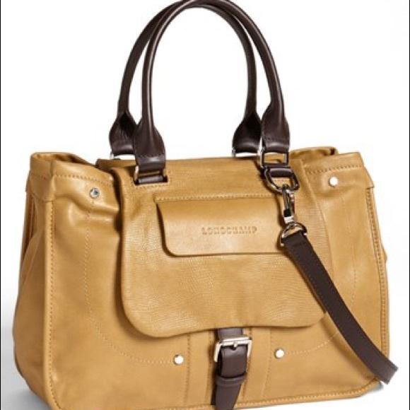 a0af02e09f1 Longchamp Bags   Balzane Roots Embossed Leather Satchel   Poshmark