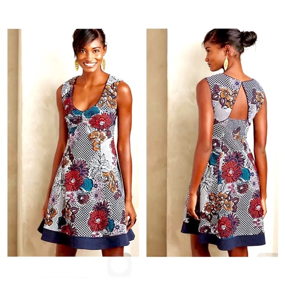 4b93de9c00387 ... germany anthropologie dresses skirts anthropologie maeve navy floral  backless dress c80b3 fd04c