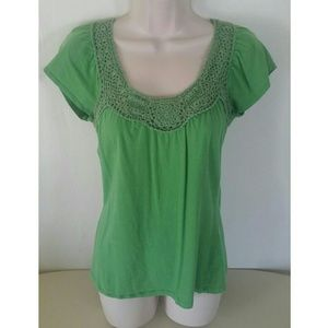 Eyeshadow Tops - FREE with Purchase! Green Crochet Top