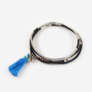 Blue Perry Wrap Bracelet