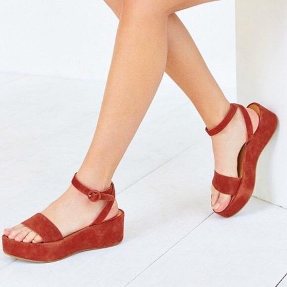 paige platform sandals in suede