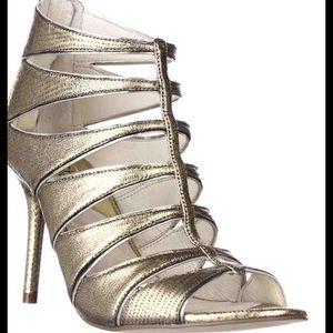 MICHAEL KORS New- Strap cage gladiator pump heel