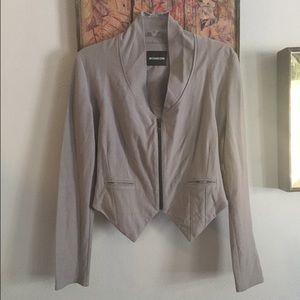 Monrow Jackets & Blazers - NWOT MONROW BRAND Fitted gray zip Moto jacket sz S