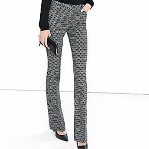 Express Pants - Pixel Print Low Rise Barely Boot Columnist Pant
