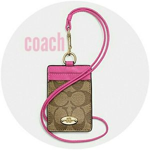 Coach lanyard / ID holder nwt