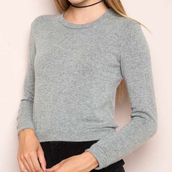 26% off Brandy Melville Tops - Brandy Melville Gray Cropped ...