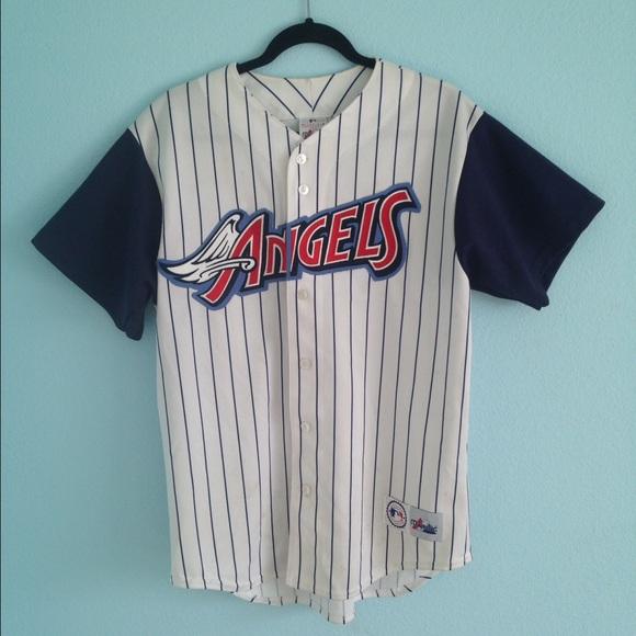 fd58a6dacf9 Vintage old school Anaheim Angels baseball jersey.  M 57d03d94eaf03075ed005045