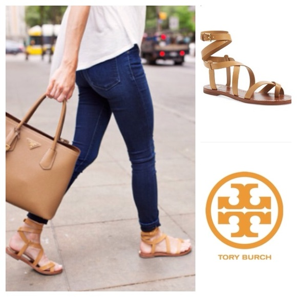 clearance 2014 unisex free shipping lowest price Tory Burch Denim T-Strap Sandals best place to buy 4NINg
