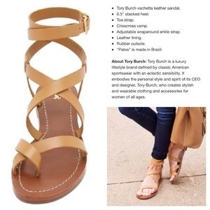 fba02561c22e3 Tory Burch Shoes - LIKE NEW! Tory Burch Patos strappy sandals 9.5