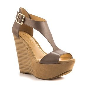 Jessica Simpson Shoes - Jessica Simpson Taupe/Nude Wedges