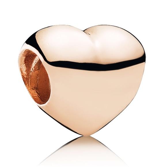 pandora pandora rose gold heart charm from stephanie 39 s. Black Bedroom Furniture Sets. Home Design Ideas