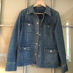 GAP denim jean jacket size L large