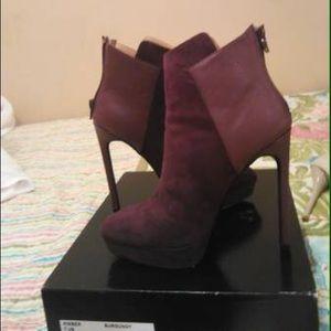Cute burgundy booties