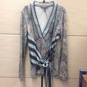 BCBG kimono style neck long sleeved top small