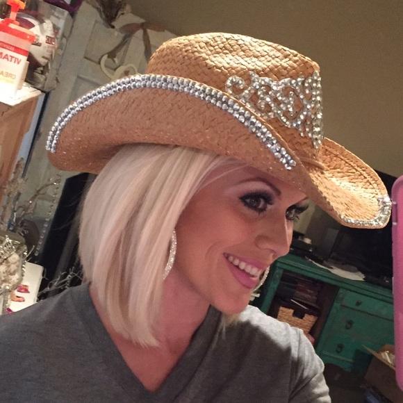 LAST ONE Rhinestone cowgirl cowboy hat boho gypsy.  M 57d73dbc4225be9540011d19 259195ea375